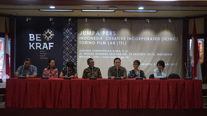 Jumpa Pers Indonesia Creative Incorporated (ICINC) for Film dan Torino Film Lab (TFL) Gedung Kementerian BUMN Lt. 21